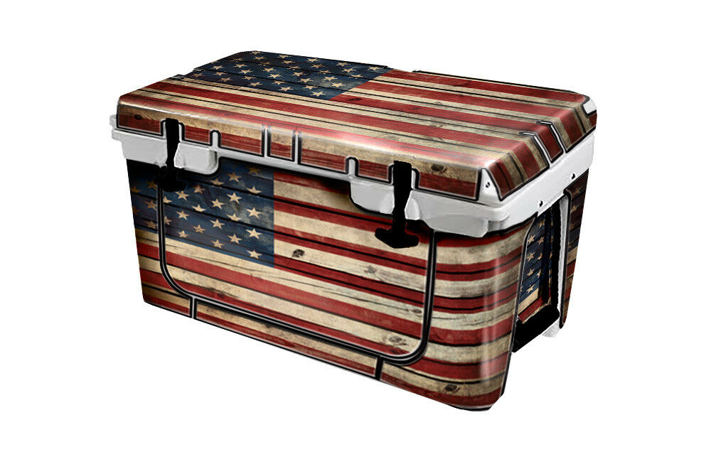 USATuff Cooler Wrap Decal 'Fits New Mold' RTIC 45QT FULL Old Glory