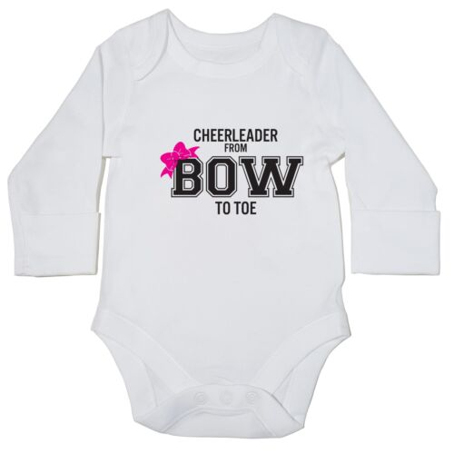 Cheerleader from Bow to Toe baby bodysuit LONG SLEEVE super cute dancing 11731