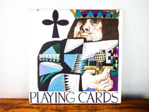 Vtg-Original-Oil-Painting-On-Wood-Miguel-Flores-Playing-Cards-Art-King-Of-Clubs