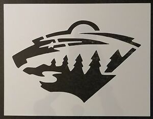 """Minnesota Wild 11"""" x 8.5"""" Custom Stencil FAST FREE SHIPPING"""