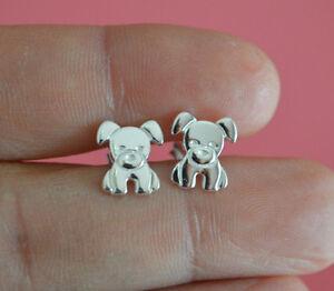 Bulldog-Stud-Earrings-925-Sterling-Silver-Puppy-Dog-Stud-Post-Earrings