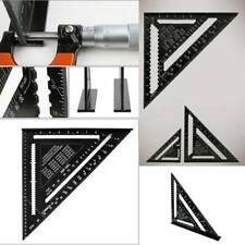 """Metric Aluminum Alloy Speed Square Triangle Angle Protractor Guide Ruler 7//12/"""""""