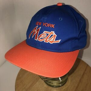 03eb07b6f4cb9 Vintage NEW YORK METS 90s SCRIPT Sports Specialties The Twill Hat ...