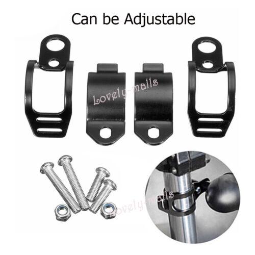 Black Motorcycle Turn Signal Light 27-31mm Fork Bracket Indicator Holder Bolts