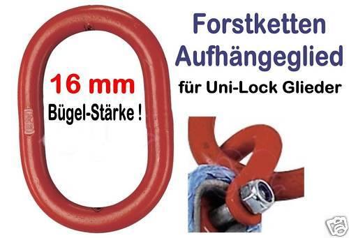 Aufhängeglied 110 x 60 x 16mm G8 f Forstkette Rückekette u Verbindungsglied 8+10