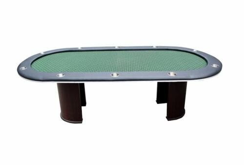 """96/"""" Poker table 10 player half moon legs NEW speed cloth color choices !!"""