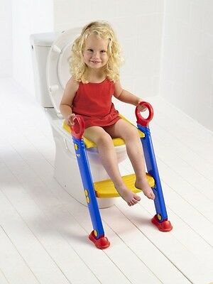 New Baby Trainer System STEP LADDER TODDLER SAFETY POTTY TRAINING TOILET SEAT