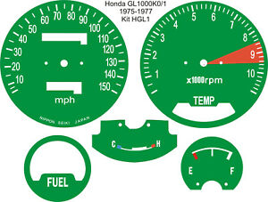 HONDA-GL1000-GOLD-WING-SPEEDO-TACH-REV-COUNTER-DIAL-FACE-OVERLAYS
