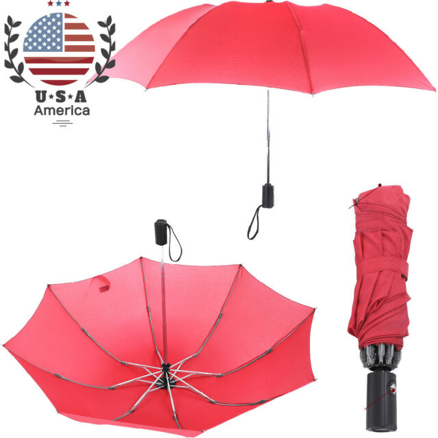 c6f2beba8350 Windproof Travel Sun Umbrella Golf Umbrella Auto Open Close Umbrella Red