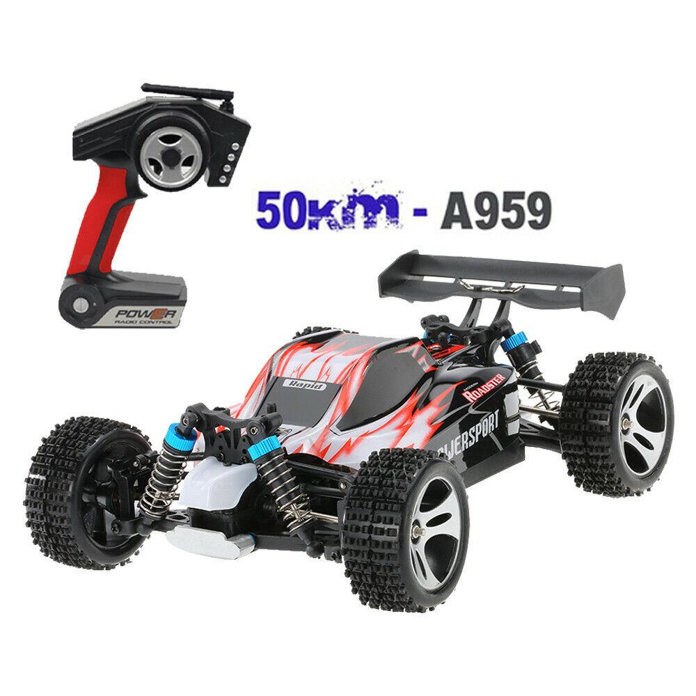WLgiocattoli  A959 aggiornato 540 motore a spazzola ad alta velocità 50km h 1 18 4D 2.4G Giocattoli RC Auto  vendita online