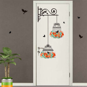 colorful-flower-birdcage-wall-sticker-decor-flying-birds-plants-adhesive-decoG9A