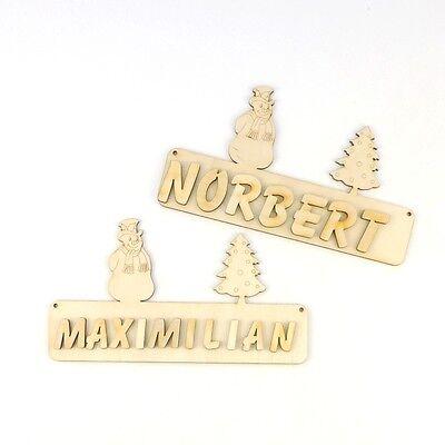 Buchstaben 18cm Holz Türschild Kinderzimmer personalisiert Name 3 süsse Engel