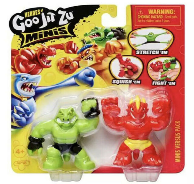 Heroes of Goo Jit Zu Minis Super Stretchey Mini Figures Complete box New