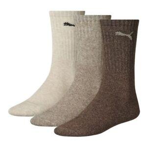 Puma-Sports-3-Pair-Socks-Chocolate-Walnut-Safari