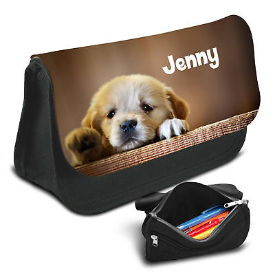 01 Dogs Personalised Pencil Case Game School Bag Kids Stationary