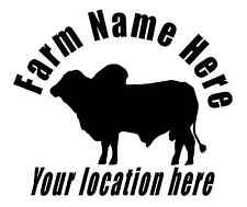 Custom decal sticker with your name and location Burma Bull Cattle Farm