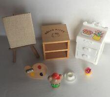 Vintage Japanese Hello Kitty Dollhouse Furniture - Fits Sylvanian Families