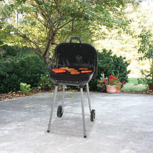 charcoal grill portable bbq backyard outdoor camping grilling barbeque smoker red ebay. Black Bedroom Furniture Sets. Home Design Ideas
