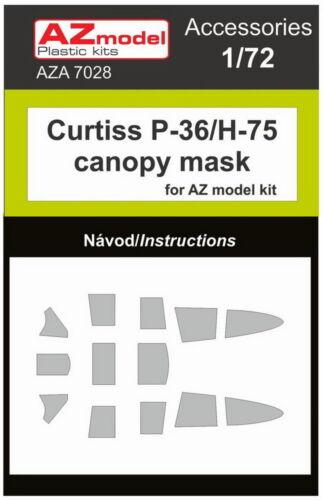 AZ Model 1/72 Curtiss Hawk P-36/H-75 Canopy masque pour AZ Model Kit # A7028