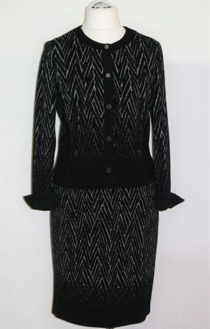 Gerry Weber Zweiteiler Gr 40 240€ Bleistiftrock Damenblazer Kostüm Anzug Jacke