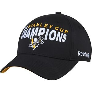 564068af87e3c Image is loading Pittsburgh-Penguins-Reebok-Black-5-Time-Stanley-Cup-