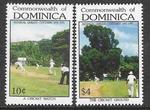 DOMINICA 1992 BOTANICAL GARDENS CENTENARY 2v CRICKET MNH