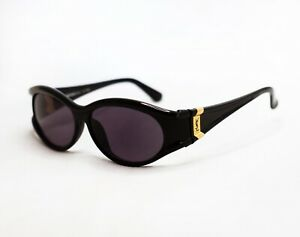 YSL Yves Saint Laurent sunglasses vintage 31-7502 oval women gold black
