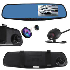1080P Dual Lens Car DVR Rearview Mirror + Video Recorder Dash Camera M