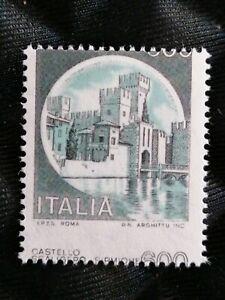 Italia-Repubblica-varieta-dntellatura-e-colori-Castelli-d-039-Italia