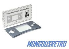 BRAND NEW Faceplate for Original Nintendo Game Boy Micro Silver