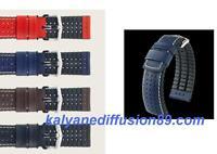 Bracelet Hirsch Tiger Cuir Et Caoutchouc Premium / Sportif Decontracté Averti