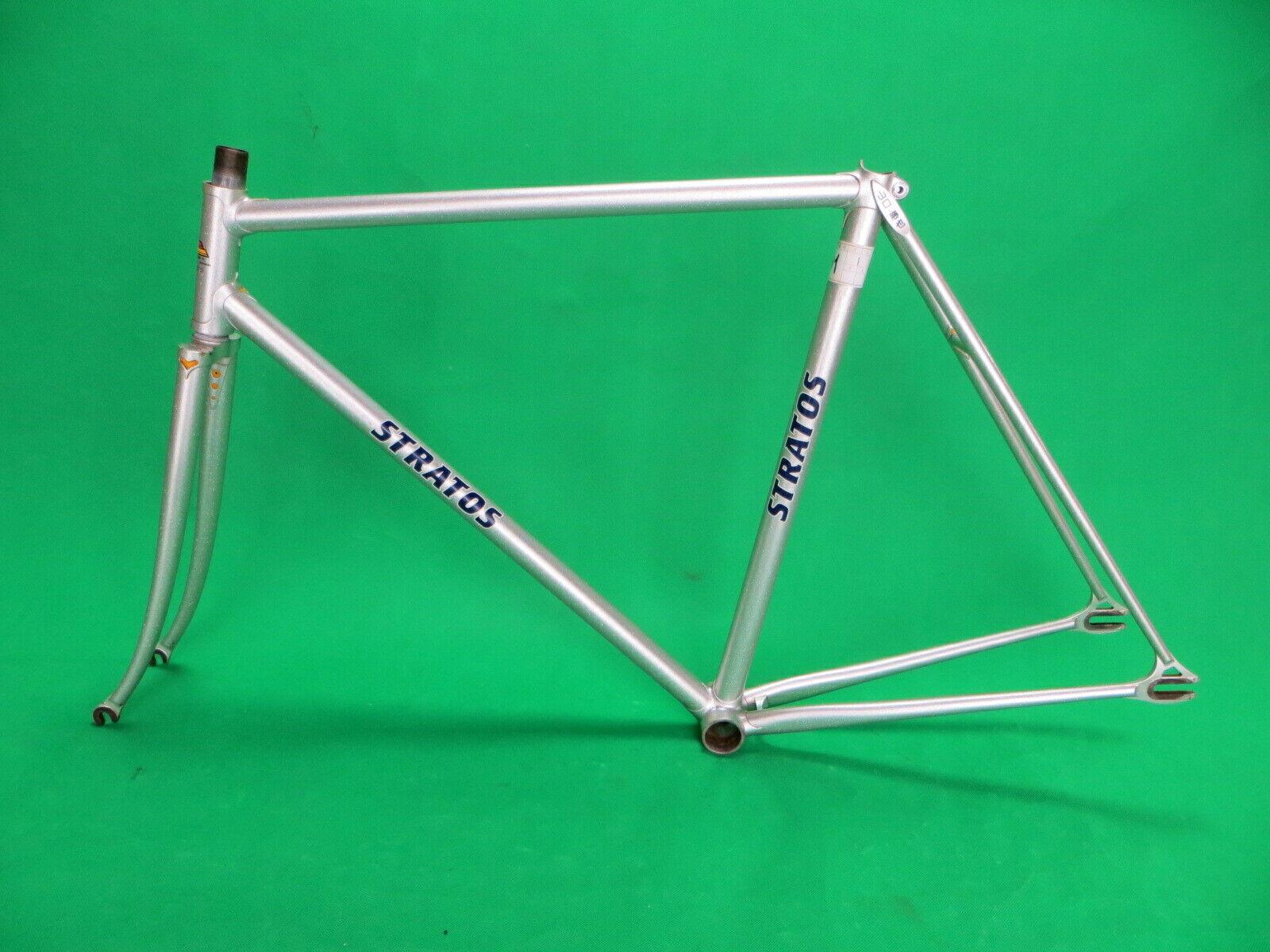 Pista De Marco Stratos Plata NJS Keirin bicicleta fija de engranaje 52.5cm