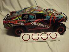 Traxxas Slash 2wd or 4x4 Red Glitter Wheel Vinyl Decal