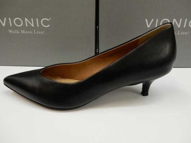 Vionic Womens Josie Kitten Heel Black 9