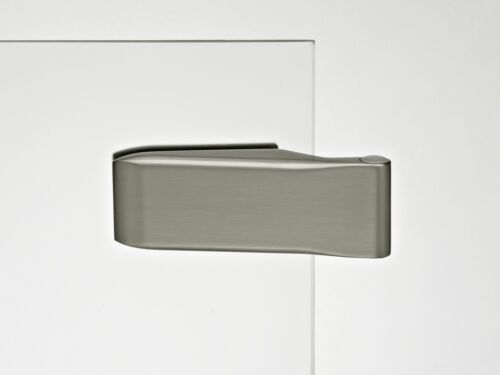 Glastürbeschlagset V100E.NI.WC-LH102 Edelstahl matt gebürstet