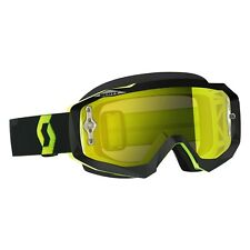 Maschera Scott Hustle X Mx Goggles Giallo Fluo Yellow Grey Clear Cross Enduro DH