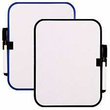 2pc Magnetic Whiteboard Dry Erase Fridge Board Small Frame Color Vary 65x825