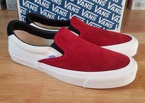 Image is loading Vans-Vault-OG-classic-slip-on-LX-red- b501471d8