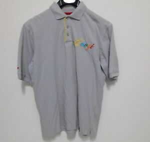 COOGI-Polo-Shirt-Men-039-s-Size-XL-Short-Sleeve-Embroidered-Gray