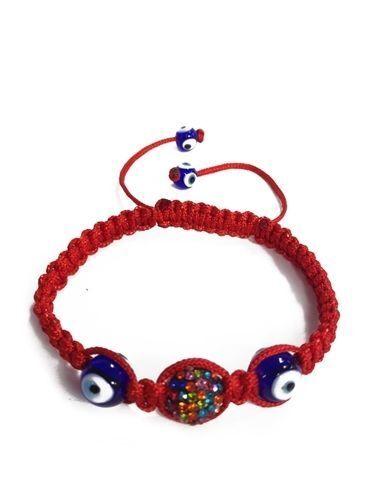 Evil Eye Multicolor Evil Eye Shamballa Bracelet RED Bracelet #2708