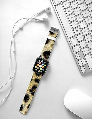 Brown Leopard fashion Print on Leather Strap Band for