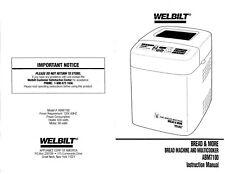 Creative Touch RBM3015 Bread Machine Maker Instruction Manual /& Recipes