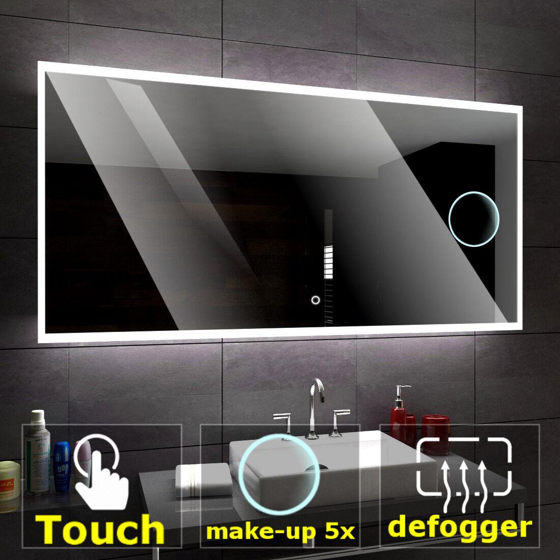 Boston éclairé del Miroir salle de bain LED interrupteurs maquillage