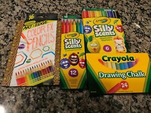 CRAYOLA Art with Edge COLOR FX PENCIL Neon Twistable SILLY SCENTS Marker Chalk
