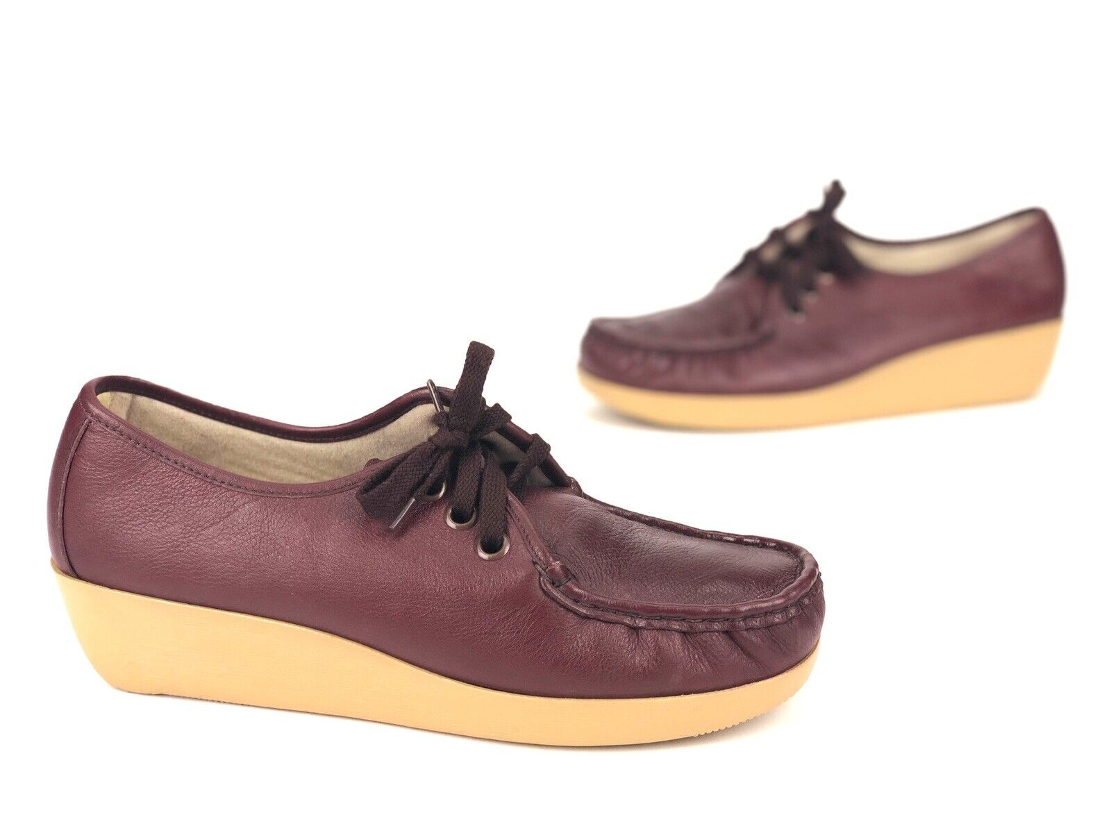 Sears Career Comfort Womens Oxfords Sz. 11 D Handsewn Moc Toe Lace-Up shoes