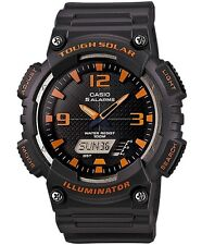 Casio Aqs810w-8a Tough Solar Analog Digital Sports Watch 5 Alarms Black 100m