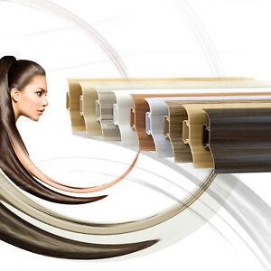 DQ-PP 10 Meter Sockelleisten 62mm PVC Schwarz gl/änzend Laminatleisten Fussleisten aus Kunststoff PVC Laminat Dekore Fu/ßleisten