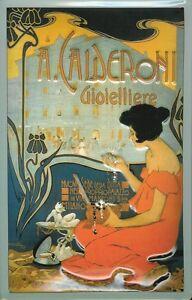 A-Calderoni-Juweliere-Milano-Blechschild-Schild-Blech-Metal-Tin-Sign-20-x-30-cm