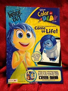 Image Is Loading Disney Pixar Inside Out Jumbo Coloring Amp Activity