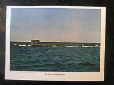 Vintage US Navy 8 x 11 Press Paper Photo USS John Adams SSB-620 925